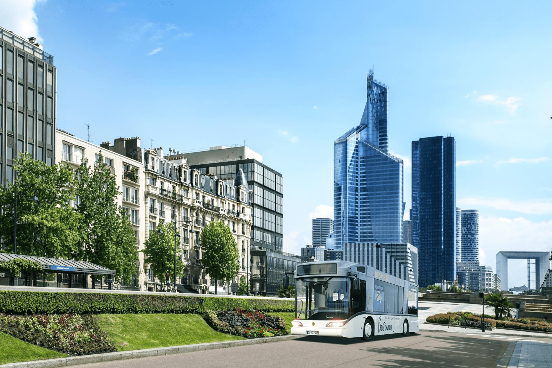 Un bus Businova en ville