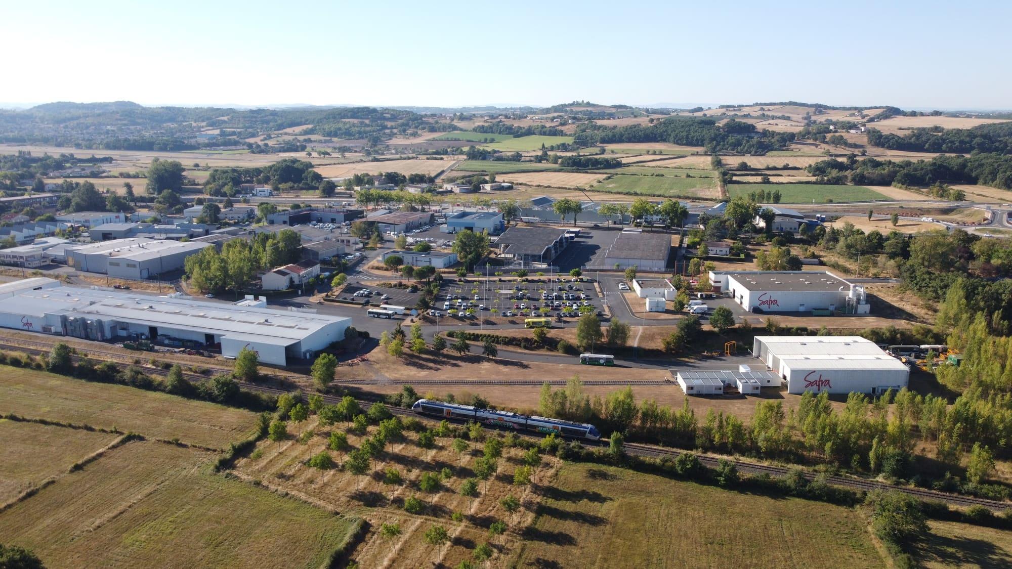 Vue aérienne du site du Groupe SAFRA