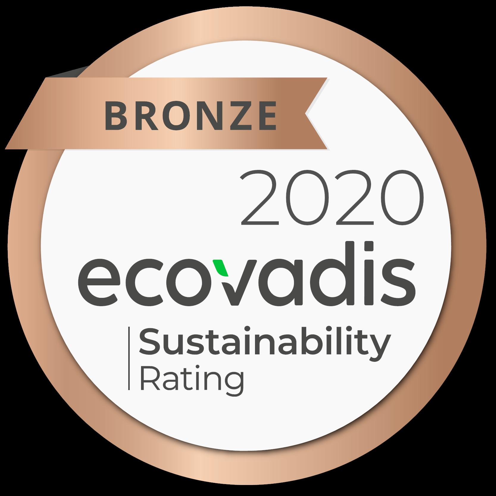 Logo de la médaille écovadis 2020