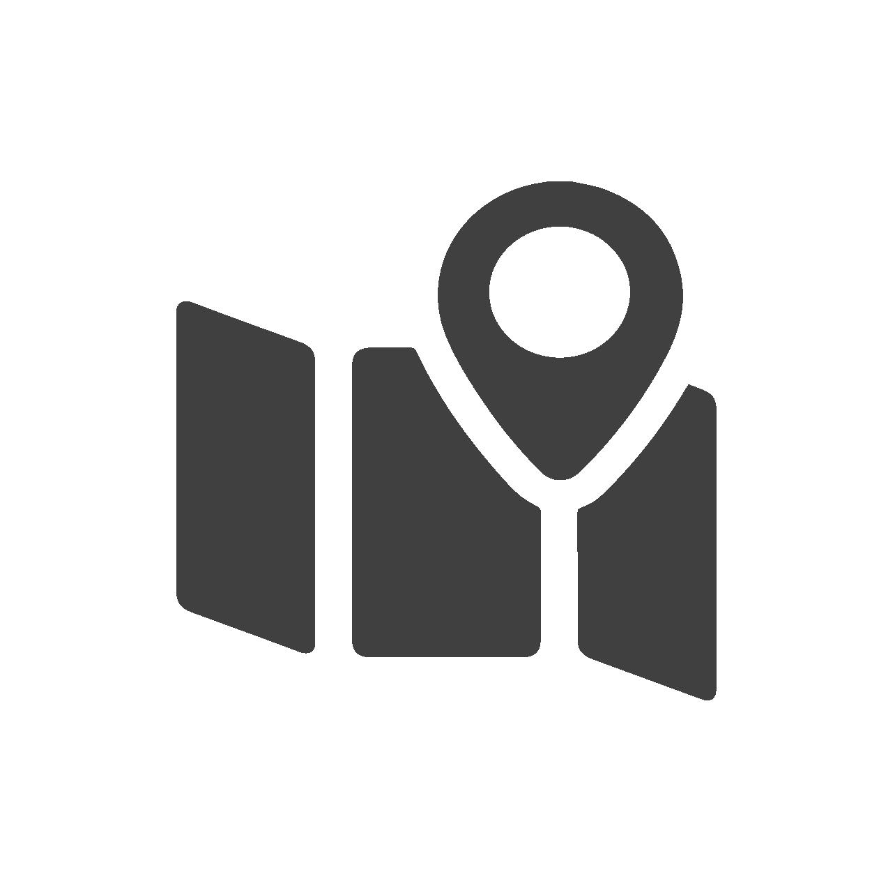 Icône représentant un carte de localisation
