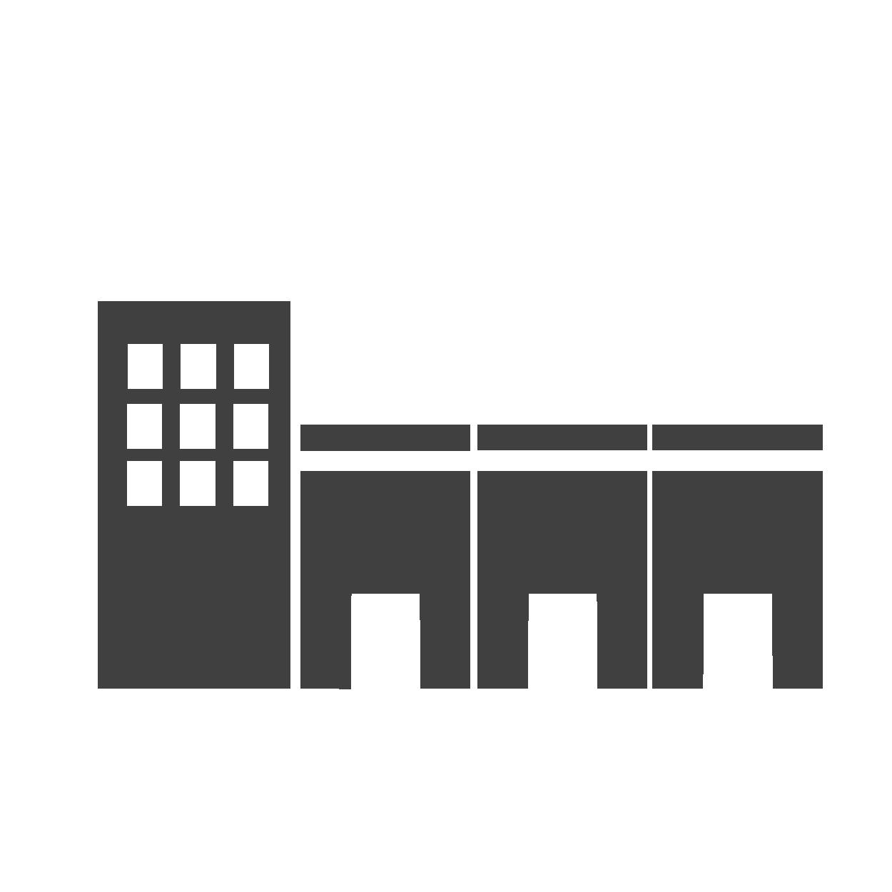 Icône représentant des bâtiments industriels