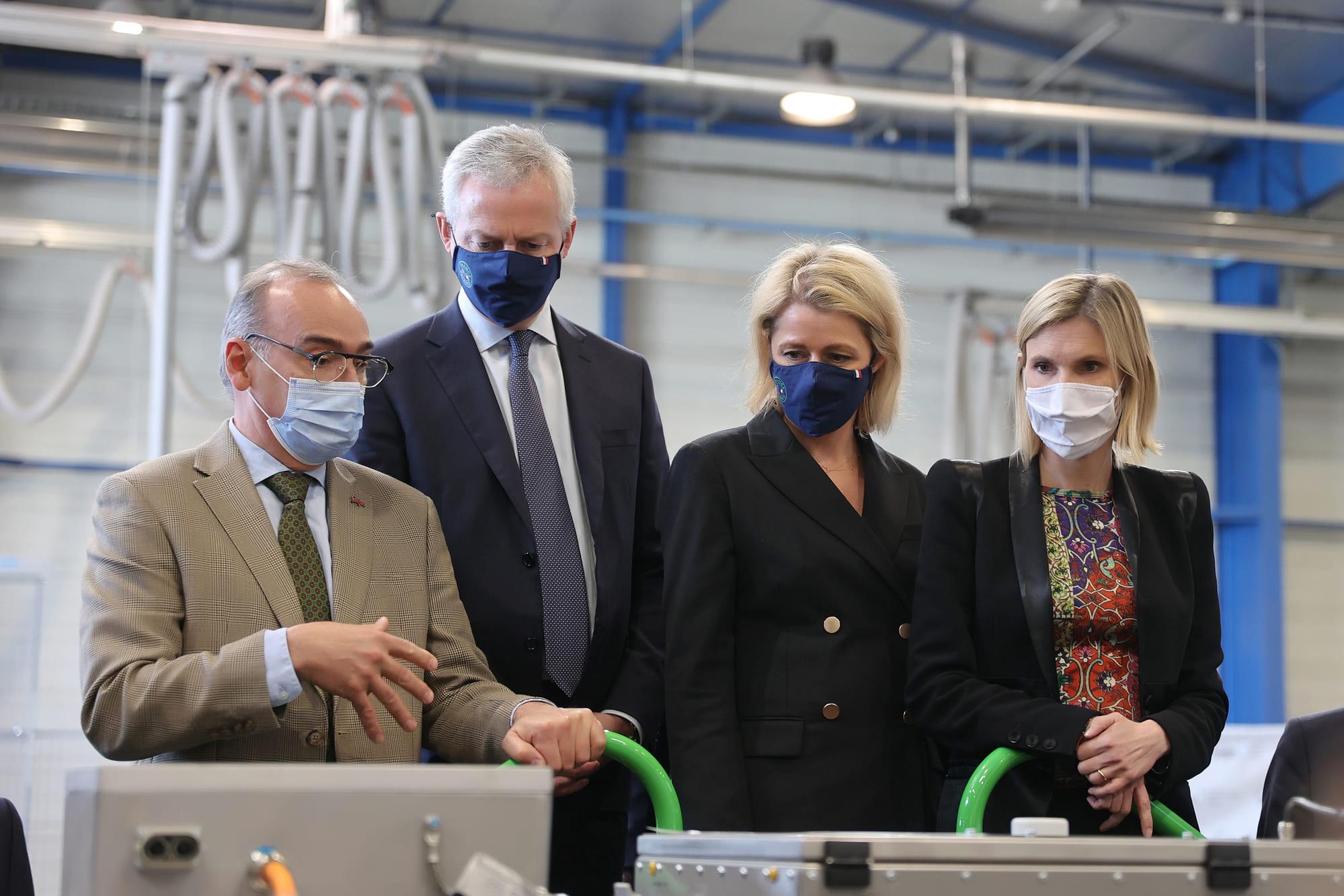 Vincent Lemaire et 3 ministres chez SAFRA