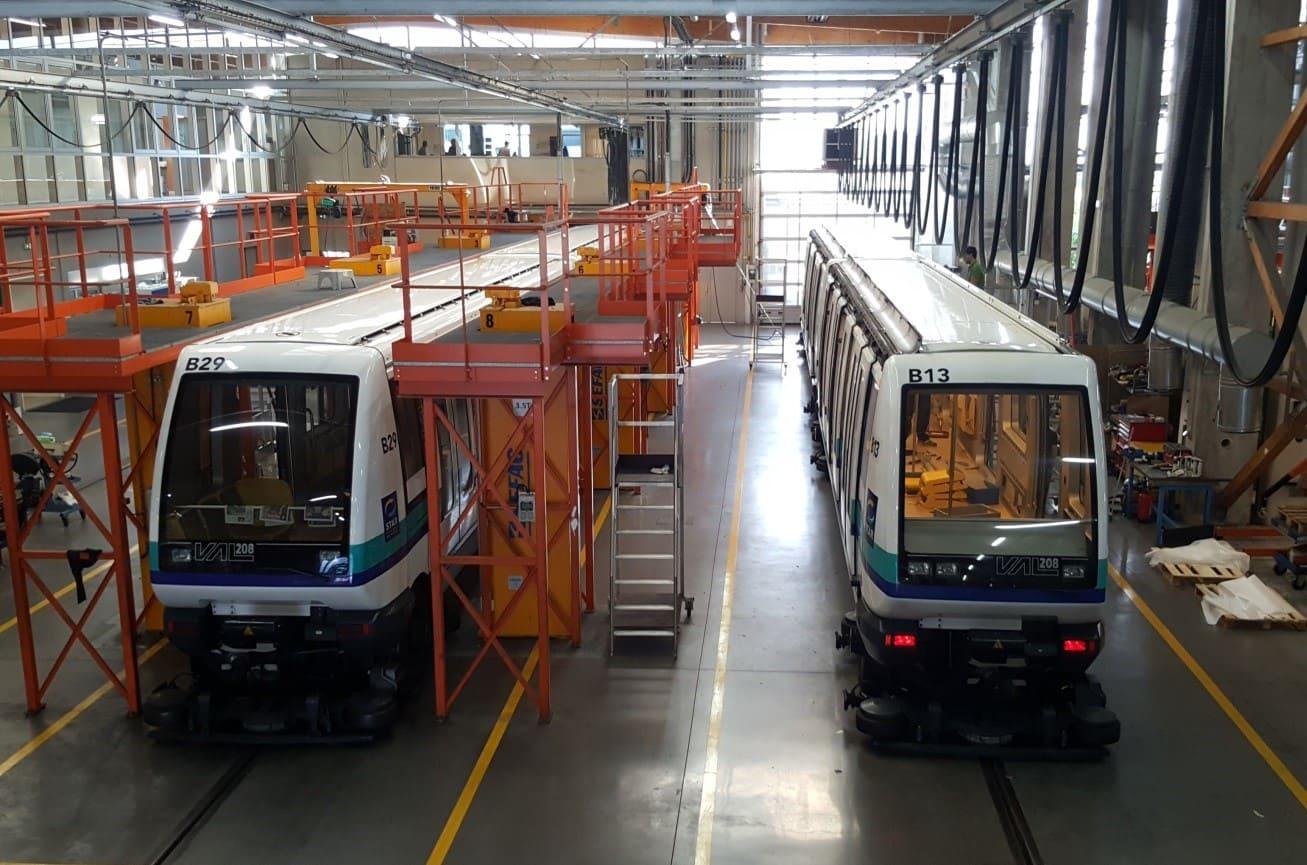 Métro VAL de Rennes en rénovation dans les locaux de SAFRA Rénovation